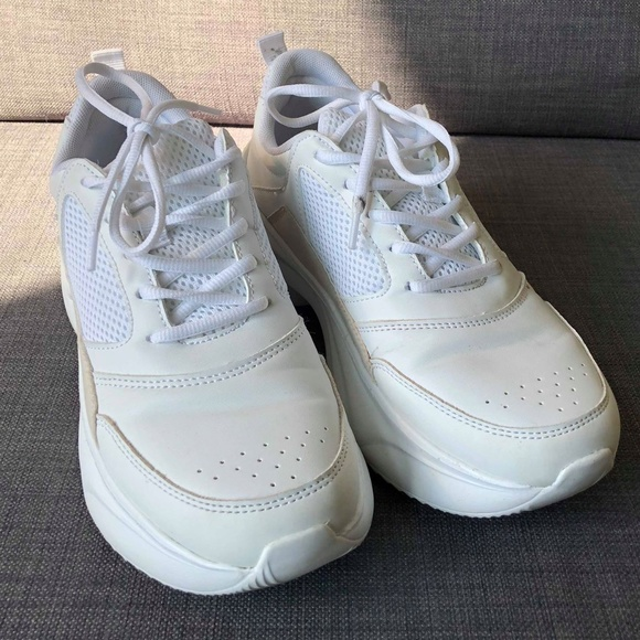 Zara Shoes White Chunky Sole Sneakers Poshmark